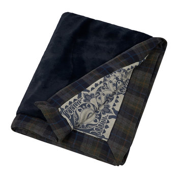 Feytiat Reversible Faux Fur Throw - Blue