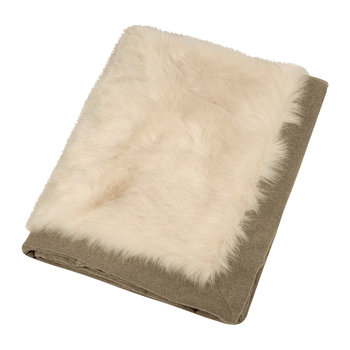 Hesdin Faux Fur Throw - Beige
