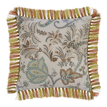 Arras Tassel Edged Cushion - 45x45cm - Beige