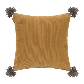 Picardie Cushion - 45x45cm - Mustard Yellow/Beige