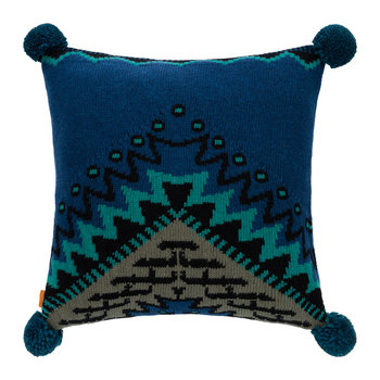 San Martin Knitted Wool Cushion - 50x50cm - Blue