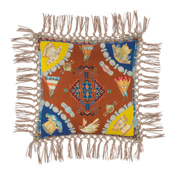 Teepee Tassel Edged Cushion - 42x42cm - Multi