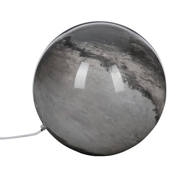 Planet Glass Lamp - Black/Blush