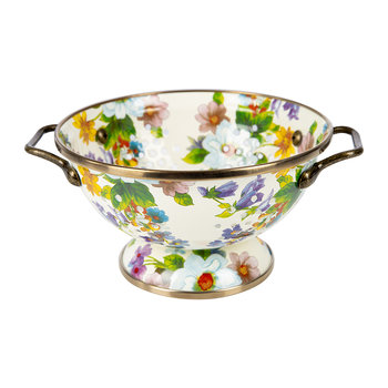 Flower Market Colander - Small - White