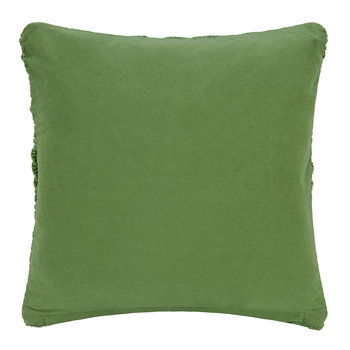Grid Crochet Cushion - Green - 45x45cm