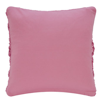 Grid Crochet Cushion - Pink - 45x45cm
