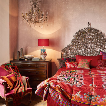 Toledo Quilted Bedspread - Red