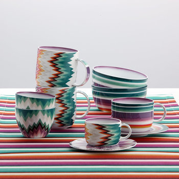 Zig Zag - Coffee Cup & Saucer - Set of 2