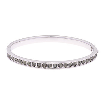 Clemara Silver Bangle - Black Diamond