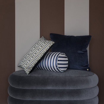 Oval Pouf - Gray