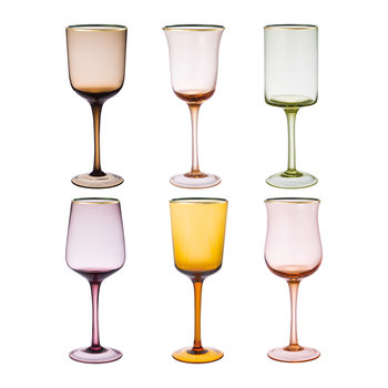 Gobelets Ambre/Rose - Lot de 6