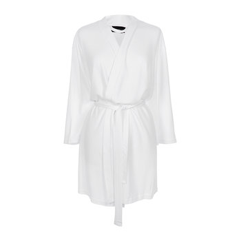 Tencel Bathrobe - White - Short