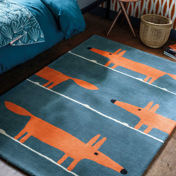 Mr Fox Rug - Denim