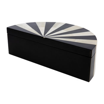 Black/White Semi Circle Box