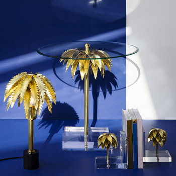 Palm Tree Bookends - Set of 2 - Brass