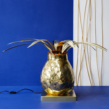 Pineapple Finial Lamp - Brass