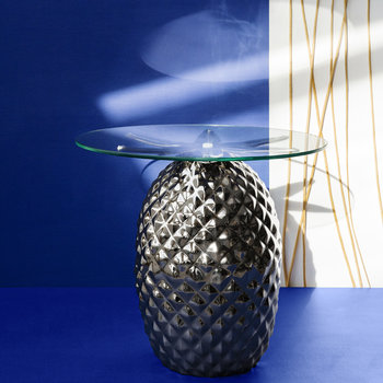 Pineapple Side Table - Nickle