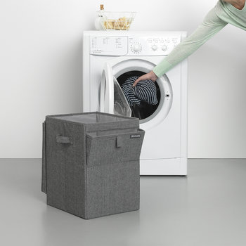 Stackable Laundry Box - Pepper Black