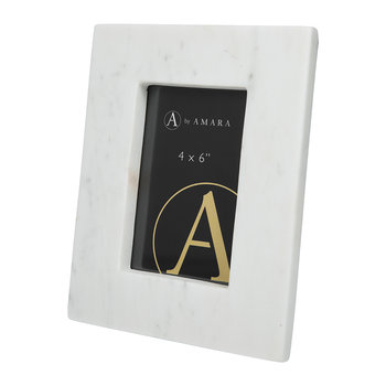 "Marble Photo Frame - 4x6"" - White"