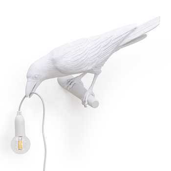 Bird Wall Lamp - Looking - White