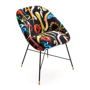 Upholstered Padded Chair - Snakes
