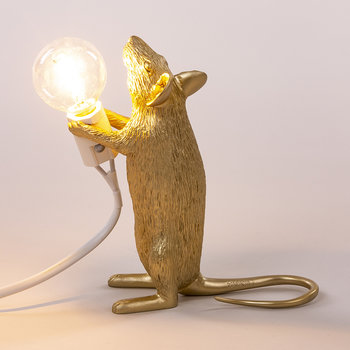 Mouse Lamp - Standing - Gold