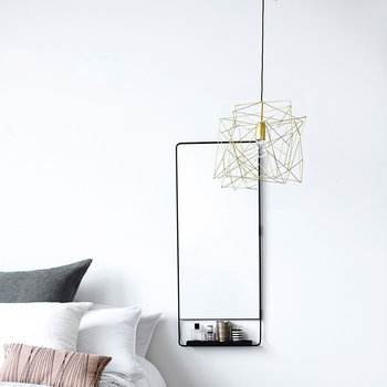 Asymmetric Ceiling Lamp - Shiny Gold
