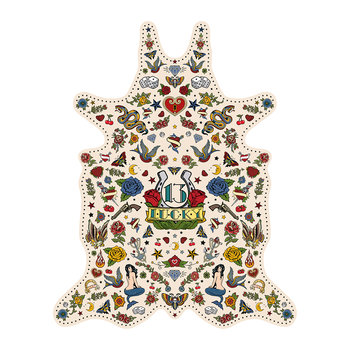 Tattoo Lucky Vinyl Floor Mat - Multi