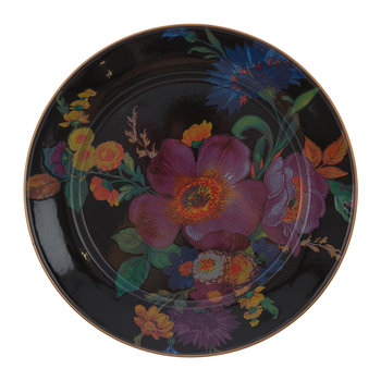 Flower Market Charger Plate - Black