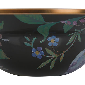 Flower Market Enamel Serving Bowl - Black