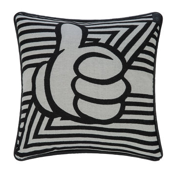 Anniversary Design Thumbs Up Cushion - 50x50cm - Black