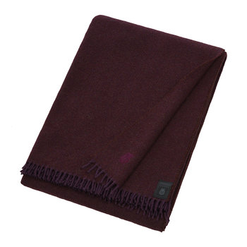 Must Relax Virgin Wool Blanket - 130x190cm - Wine
