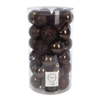 Set of 37 Assorted Baubles - Dark Chocolate