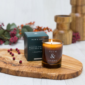 Christmas Scented Candle - Spiced Orange & Red Berry
