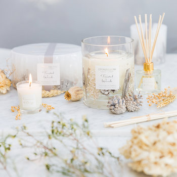 Frosted Woods Natural Wax Candle