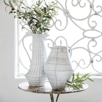 Elowen Ceramic Pitcher - Tall