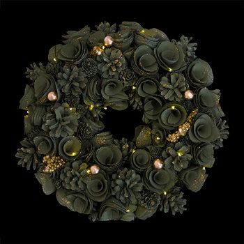 Alice Wreath with Lights