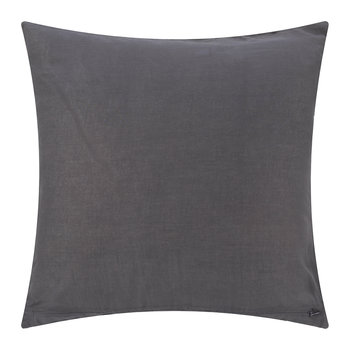 Hand Appliqued Cotton Pillow - 50x50cm - Gray