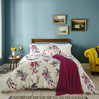 Harvest Garden Duvet Cover - Bilberry