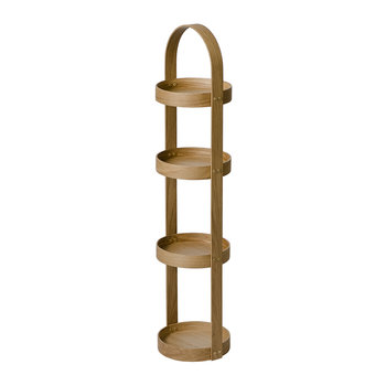 4 Tier Bathroom Round Caddy - Oak