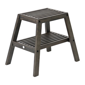 Slatted Stool - Dark Oak