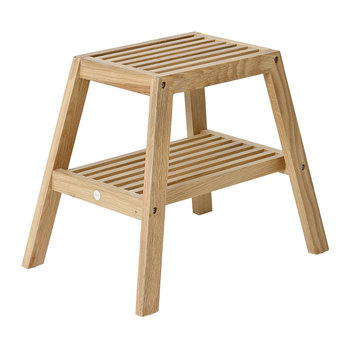 Slatted Stool - Oak