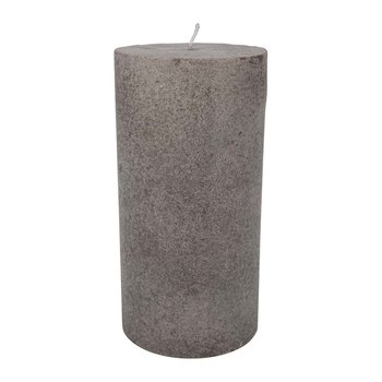 Velvet Pillar Candle - Taupe