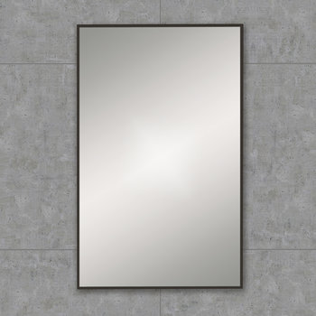 Rectangular Framed Mirror - 50x80cm - Black