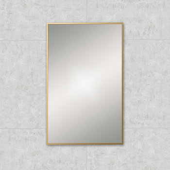 Rectangular Framed Mirror - 50x80cm - Brushed Brass
