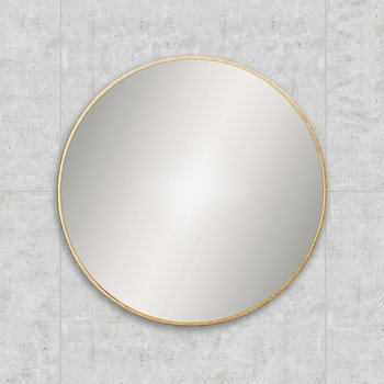 Round Framed Mirror - 60cm - Brushed Brass