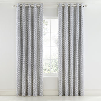 Pajaro Lined Curtains - Steel