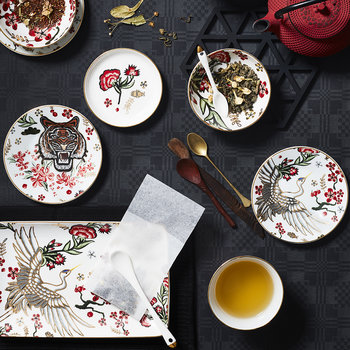 Mythical Crane Sushi Plate Set