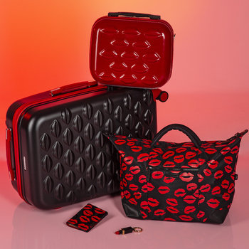 Lip Blot Holdall - Black/Red