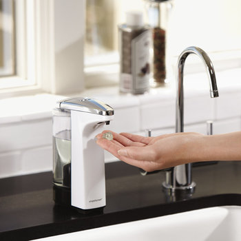 Compact White Sensor Pump Soap Dispenser